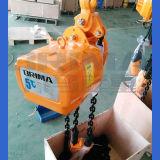 3ton tipo alzamiento de cadena eléctrico del Bm Japón con la carretilla manual