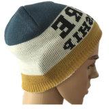 カスタム男女兼用の明白なブランク帽子のニットの帽子の頭骨の冬の帽子、卸売の明白なアクリルの安く明白な帽子、帽子のニットの帽子