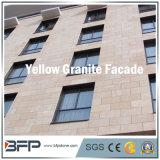 Популярная Polished желтая плитка фасада гранита для внешней стены/пола