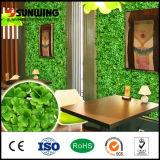 Recinto artificiale delle stuoie del Boxwood del foglio della decorazione all'ingrosso del giardino di Sunwing