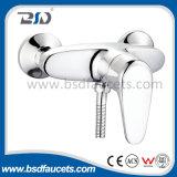 Faucet de bronze do banho de chuveiro do único punho do misturador da banheira do banheiro do cromo