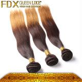 化学薬品のマレーシアの絹のまっすぐなOmbreの毛の織り方のない毛髪染料