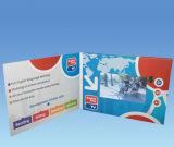 7inch LCDのビデオ広告パンフレットのカード