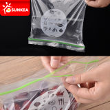 Selbstdichtung transparentes freies PET mit Reißverschluss Plastiktasche