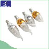 シャンデリアのための3W E14 220V LEDの蝋燭ライト