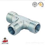 Adaptateur métrique hydraulique d'ajustage de précision de tube de té de portée de cône du mâle 24 à C.A. d'usine de Ningbo