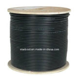 CAT6A 10g, UTP, 23AWG, sólido de cobre desnudo, PVC, 1000FT, Negro, cable Ethernet LAN a granel