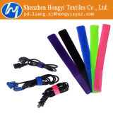 Bande en nylon noire de serres-câble de Velcro de dispositif de fixation