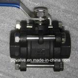 Шариковый клапан Wcb 3PC низкого давления BSPT/NPT с низкой ценой
