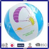 Bola de playa inflable con alta calidad e insignia modificada para requisitos particulares