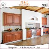 MDF Board Gabinetes de cozinha em PVC com porta de madeira de ilha