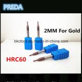 금속 CNC 기계를 위한 Preda HRC60 2mm 공구