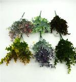 인공 플라스틱 또는 푸른 잎 풀이 나게 하십시오로 7개의 줄기 (XF90201)
