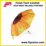Guarda-chuva aberto manual personalizado promocional para 3 dobráveis