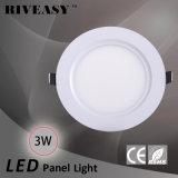 3W Ce&RoHS LEDの照明灯が付いている円形のアクリルLEDの軽いパネル