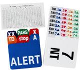 El papel substituye las tarjetas para el puente que hace una oferta el rectángulo