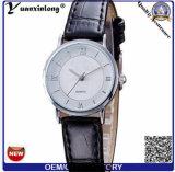 Yxl-843 vendem por atacado o relógio de quartzo da alta qualidade, relógio de couro feito sob encomenda, relógio da mão das mulheres