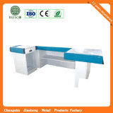 Loja Aluminum Edge Checkout Counter do supermercado com Conveyor Belt