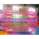 Bola inflable colorida de Zorb, bola de rodillo inflable transparente del agua para los cabritos