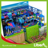 Cour de jeu de grand enfant coloré et stationnement d'intérieur de tremplin