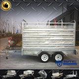 Remorque de service de cargaison de frontière de sécurité de pieu de suspension de remorque pour le transport de vache