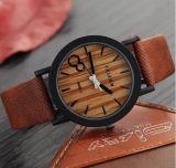 Yxl-857 Relojes Hombre Reloj de madera de los hombres del cuarzo del reloj de la simulación 2016 Reloj de madera ocasional del hombre de Leahter de la vendimia Relogio Masculino