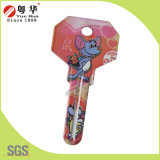 Locksmithのための小型3D Animal Painted Color Remote Key Blanks