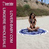 Fringe algodón toalla de playa Manta Ronda (L38352)