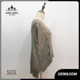 Dessus de réservoir tricoté par bord de chemise d'aile chauve-souris de femmes Salut-Lo