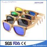 Gafas de sol de bambú de madera del patín barato hecho a mano cómodo