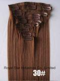 La manera al por mayor 12PCS fija la pinza de pelo rizada en la extensión del pelo