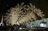 Décoration de pelouse d'horizontal de lumière de chaîne de caractères d'arbre de DEL