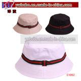 Il cappello di usura della spiaggia di festa di Sun della benna di Srtipe mette in mostra il cappello (C1052)