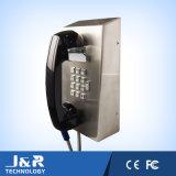 ダイヤルのパッドおよび装甲コードが付いている強い鋼鉄壁の電話