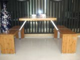 4seater Bamboo Restaurant Table mit Bench