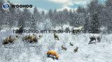 Campo da giuoco dell'interno la strumentazione del gioco della fucilazione di alleanza del cacciatore (tre giocatori)