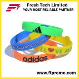 Wristband Colourful del silicone di promozione dell'OEM del braccialetto del silicone