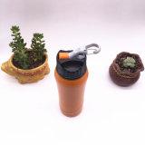 Brennkolben-Form-breite Mund-Edelstahl-Wasser-Sport-Flaschen-Plastikkappe (SH-ST12)