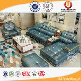 Sofá clasificado estupendo del cuero de la sala de estar del nuevo color blanco moderno italiano del estilo (UL-B607)