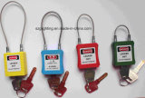 8つのカラー鋼鉄ケーブルの手錠のパッドロック