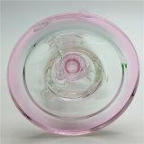 2016 Rosa Alto Color de Embriagador al reciclado del vidrio de aguas Tubos Tubos de petróleo DAB Rigs Hookah Pipe percolador 14mm Perc pelele dos funciones cuencos Banger