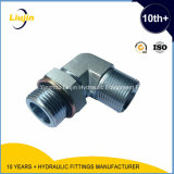 Adapter hidráulico Elbow 90deg Metric Male Flat O Ring Fitting