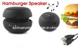 Mini Speaker con Portable Mobile Phone Hamburger Speaker