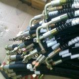 SAE100r12 de Spiraalvormige Slang van de Olie van de Hoge druk Flexibele Hydraulische Rubber