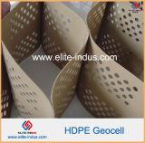 Сделано из HDPE Geocells управлением размывания наклона смолаы HDPE пластичного