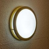 Lampe de plafonnier ronde en métal moderne en bois Peinture en grain pour chambre à coucher / salle de bain