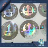 Étiquette d'hologramme laser de numéros de série