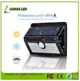 LEDのIP65の太陽動力を与えられた無線防水動きセンサー太陽ライト