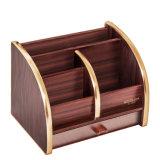 4 compartimentos 1 suporte de madeira do organizador da gaveta para o armazenamento