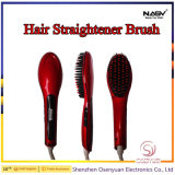 Alta calidad eléctrica de vapor plancha de pelo de cepillo